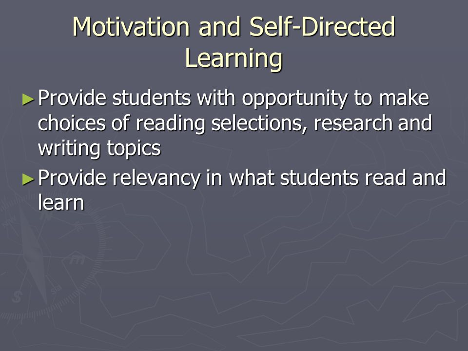Motivation and Self-Directed Learning