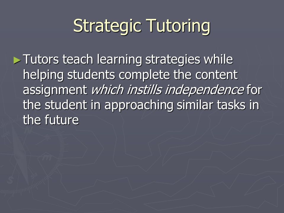 Strategic Tutoring