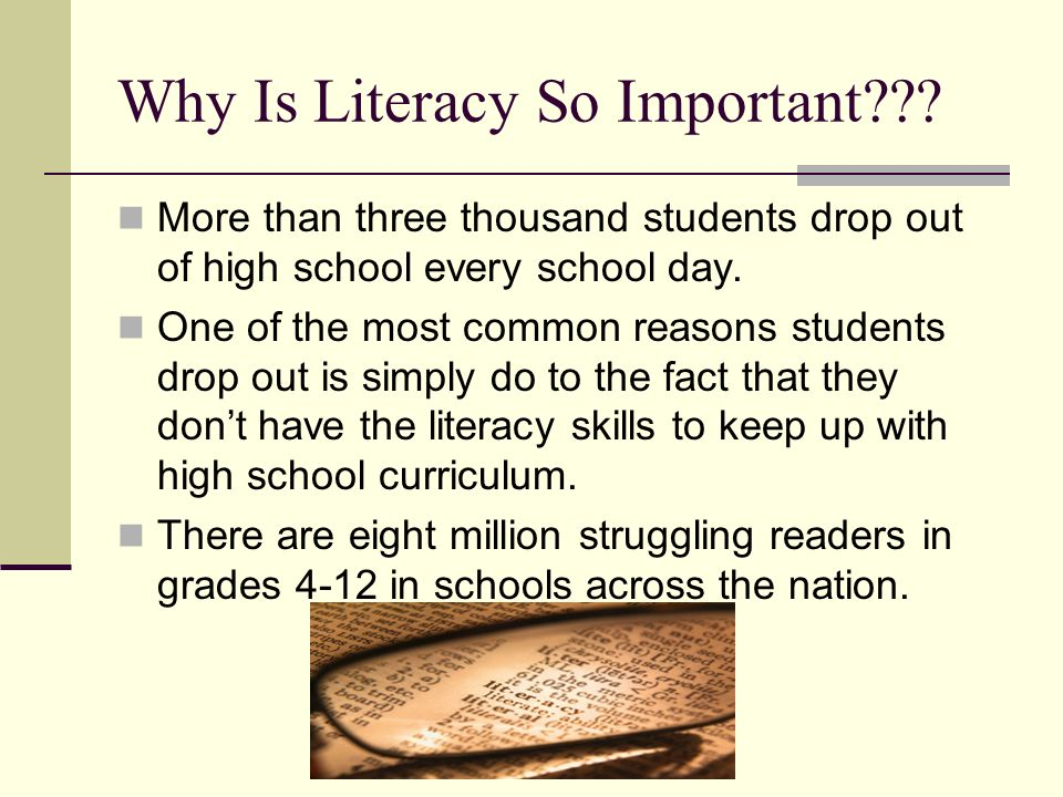 Why Is Literacy So Important