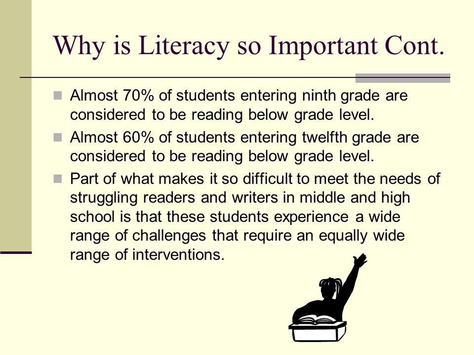 Why is Literacy so Important Cont.