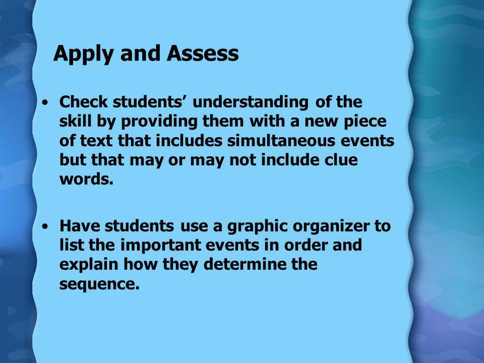 Apply and Assess