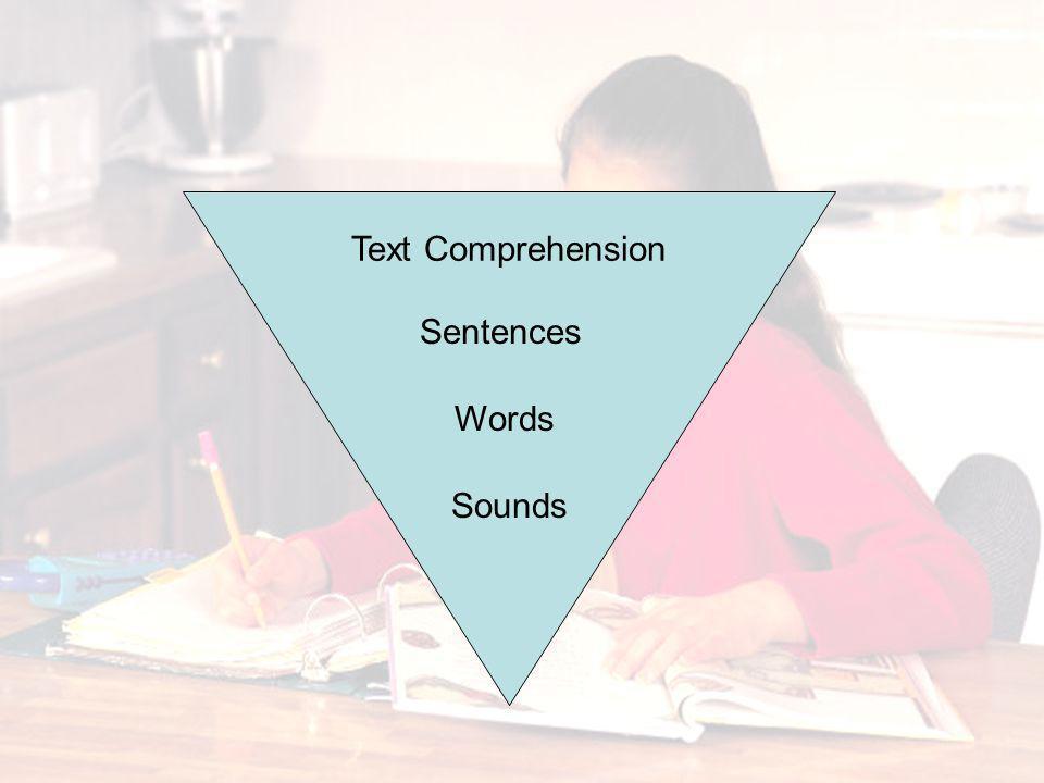 Text Comprehension Sentences Words Sounds