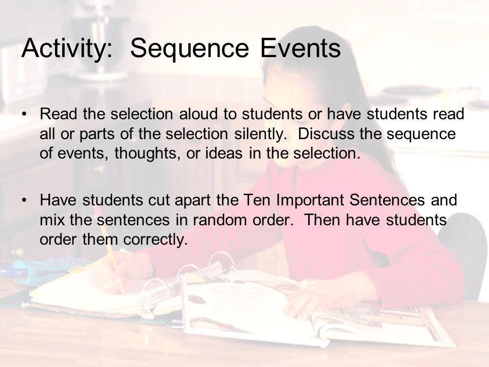 Activity: Sequence Events