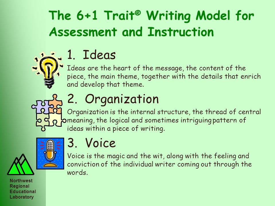The 6+1 Trait® Writing Model for Assessment and Instruction