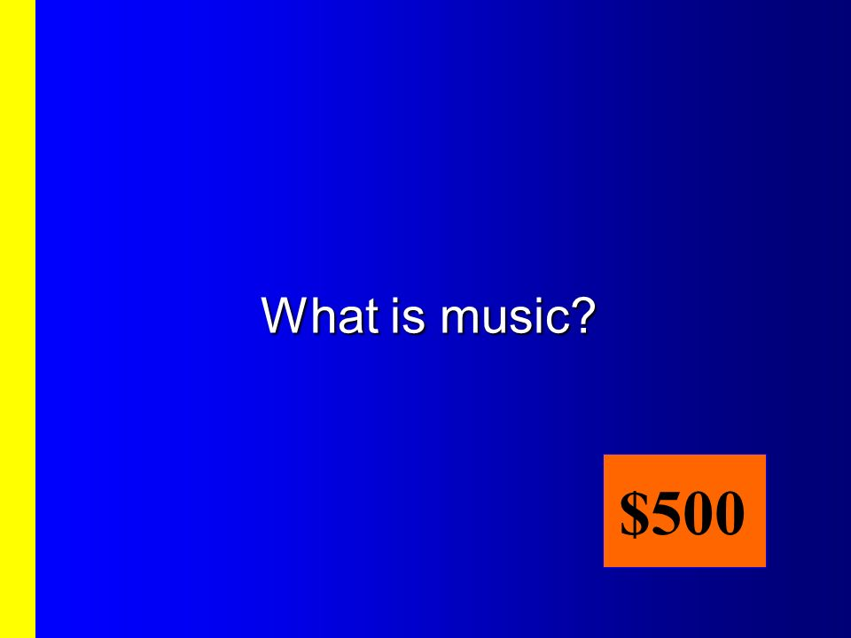 What is music $500