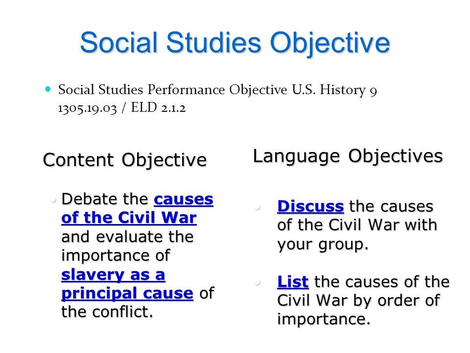 Social Studies Objective