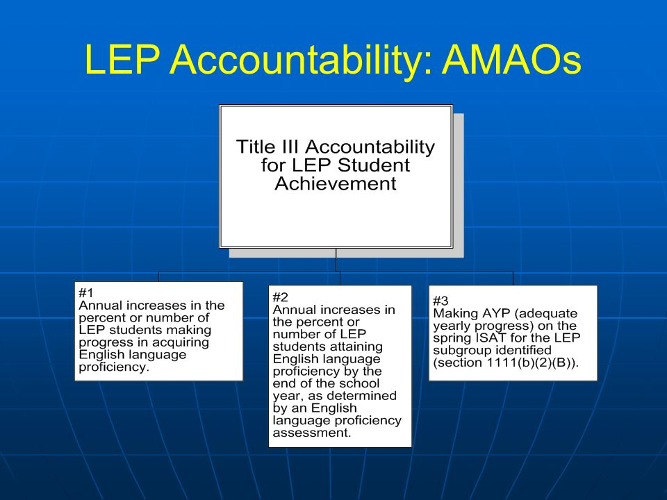 LEP Accountability: AMAOs