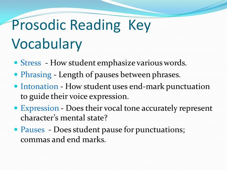 Prosodic Reading Key Vocabulary