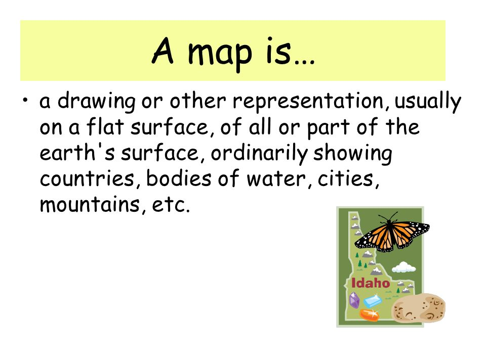 A map is…