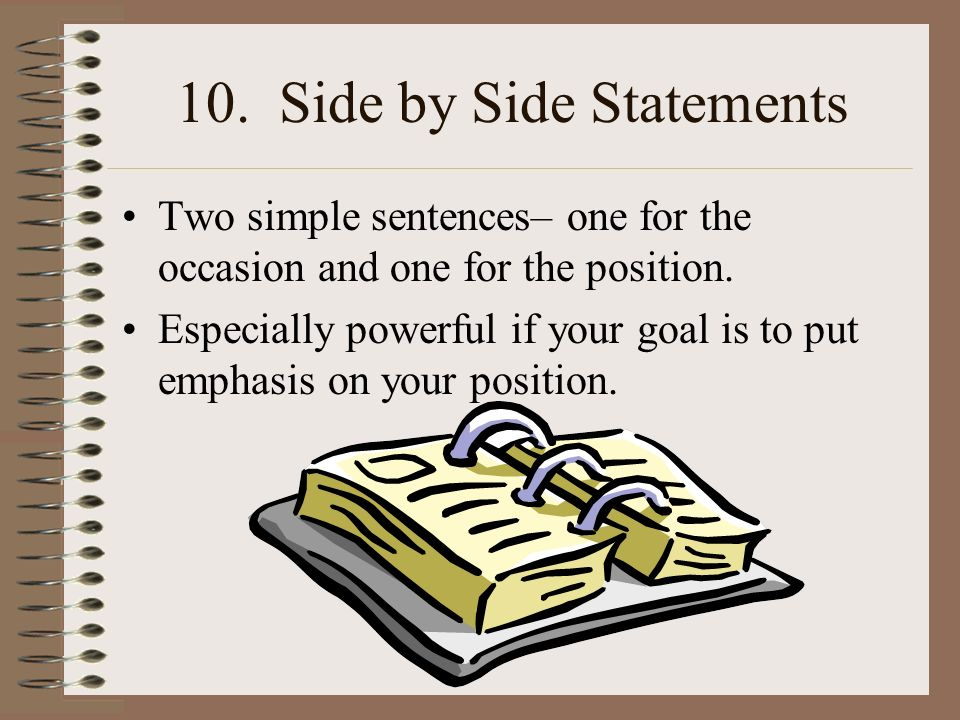 10. Side by Side Statements