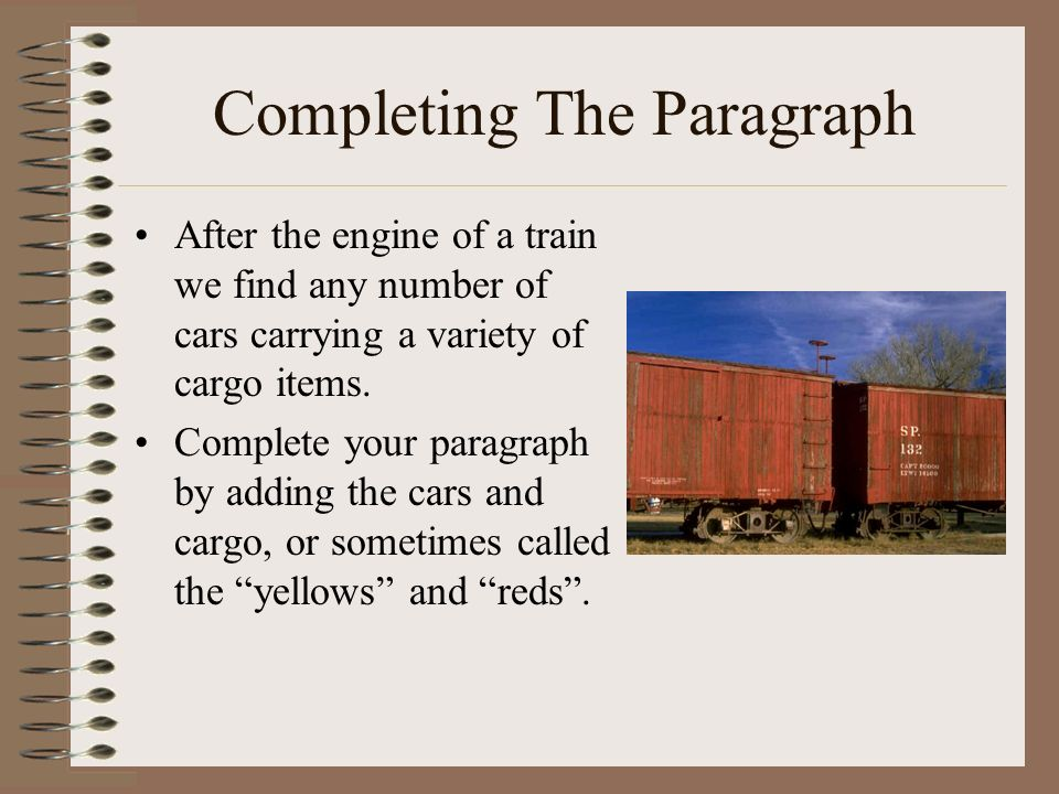 Completing The Paragraph