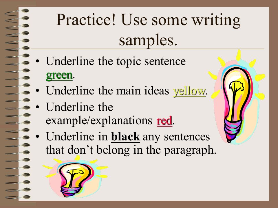 Practice! Use some writing samples.
