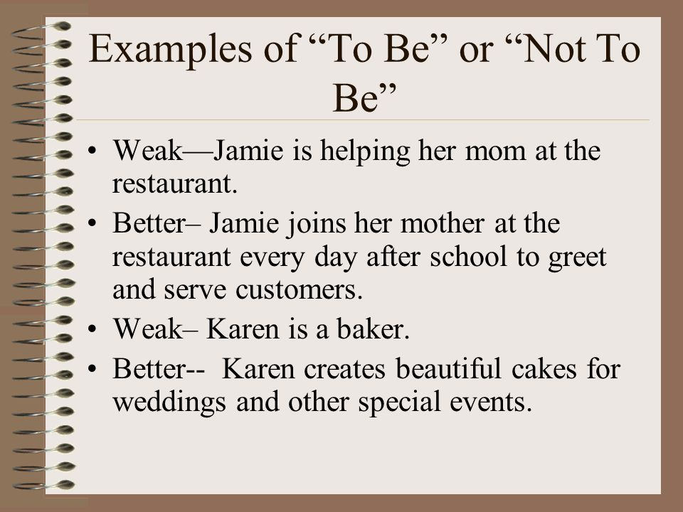 Examples of To Be or Not To Be