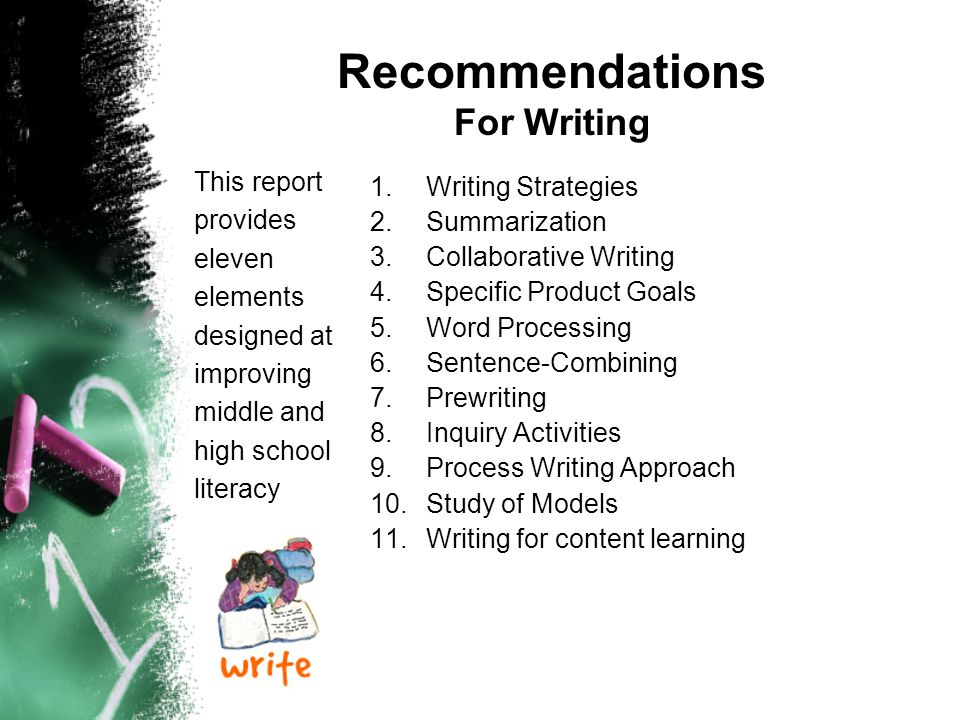 Recommendations For Writing