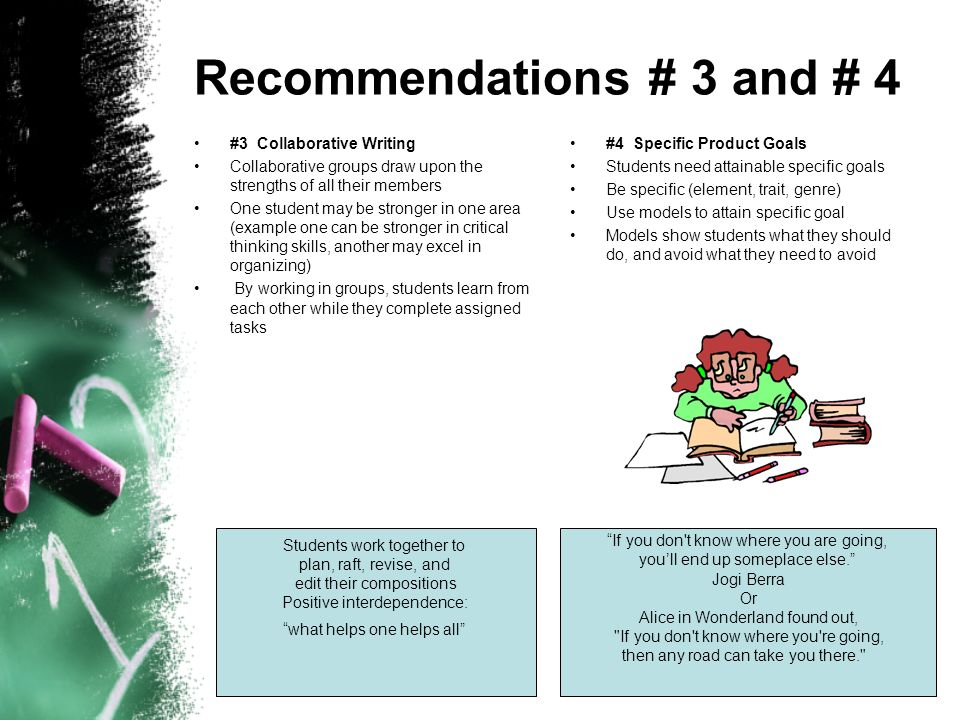 Recommendations # 3 and # 4