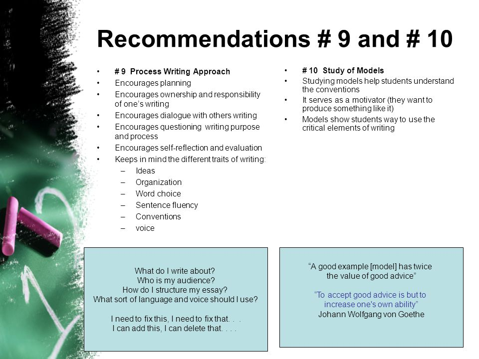 Recommendations # 9 and # 10