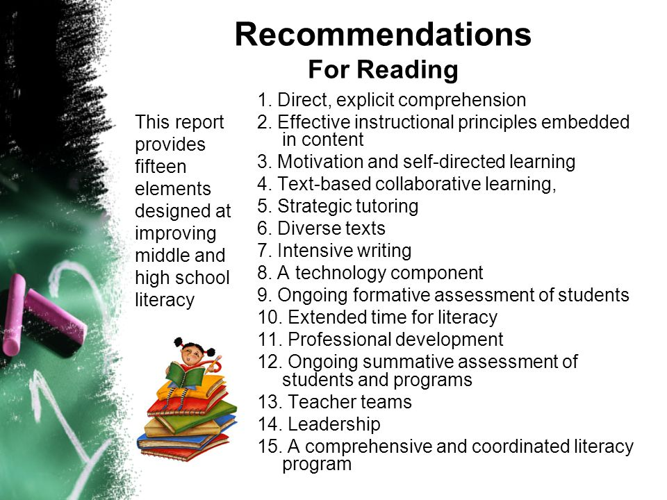 Recommendations For Reading
