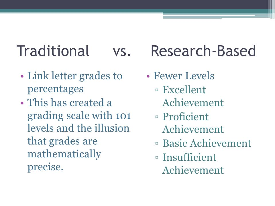Traditional vs. Research-Based