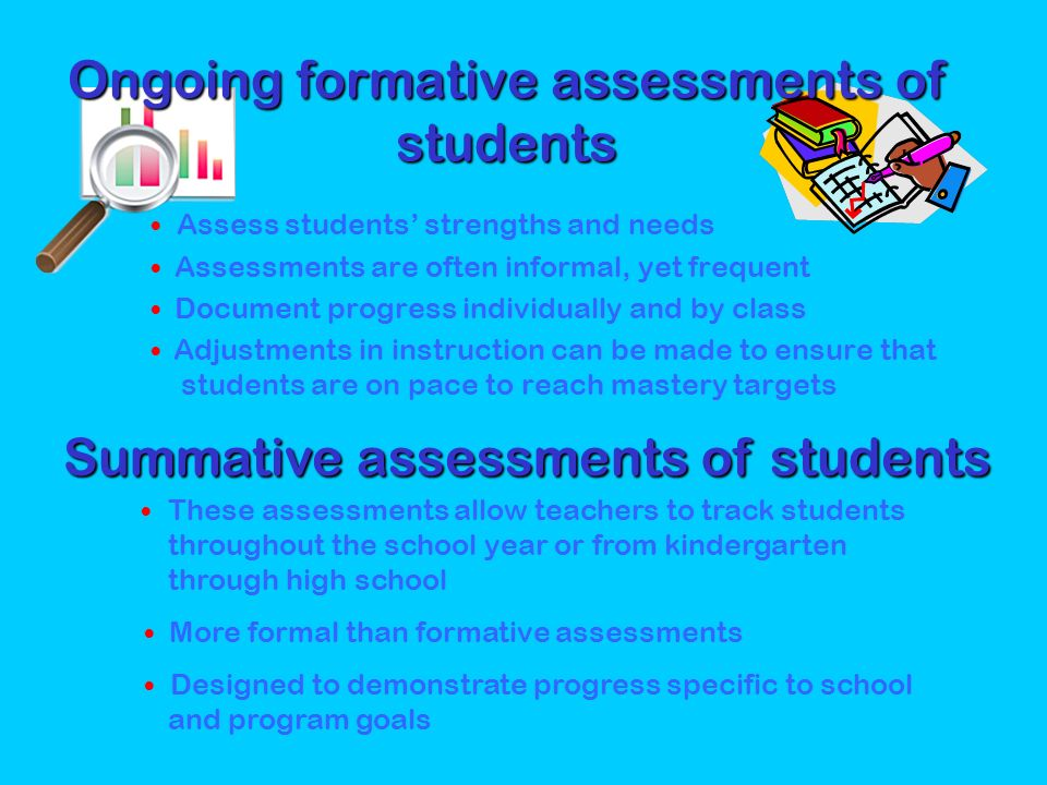 Ongoing formative assessments of students