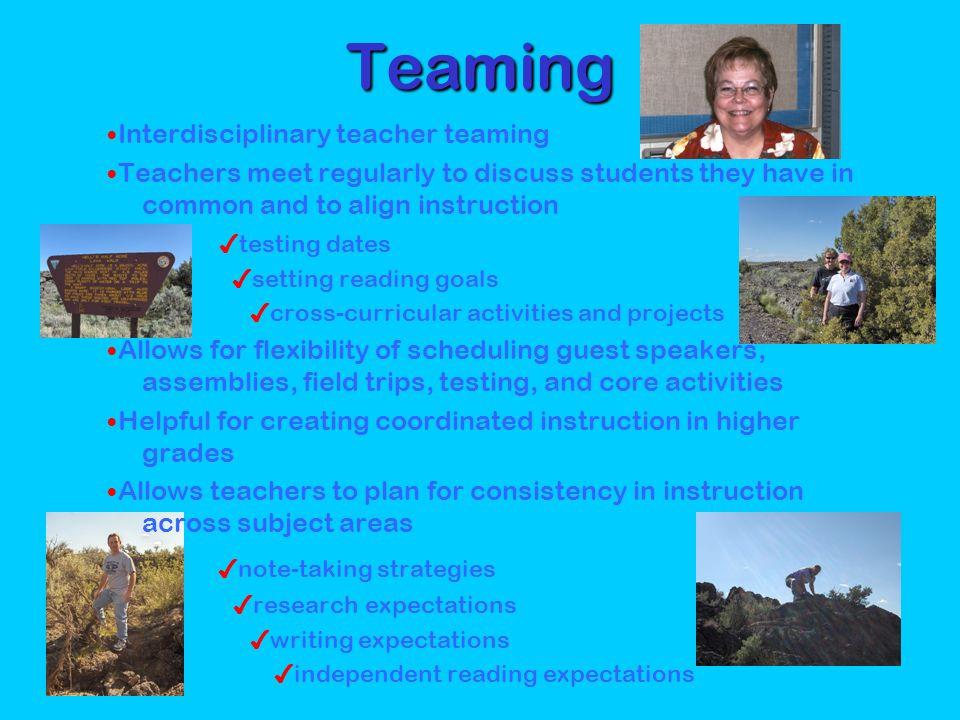Teaming ✔note-taking strategies ✔testing dates ✔setting reading goals