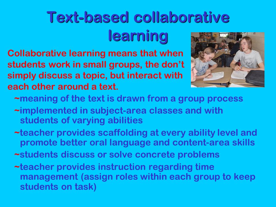 Text-based collaborative learning