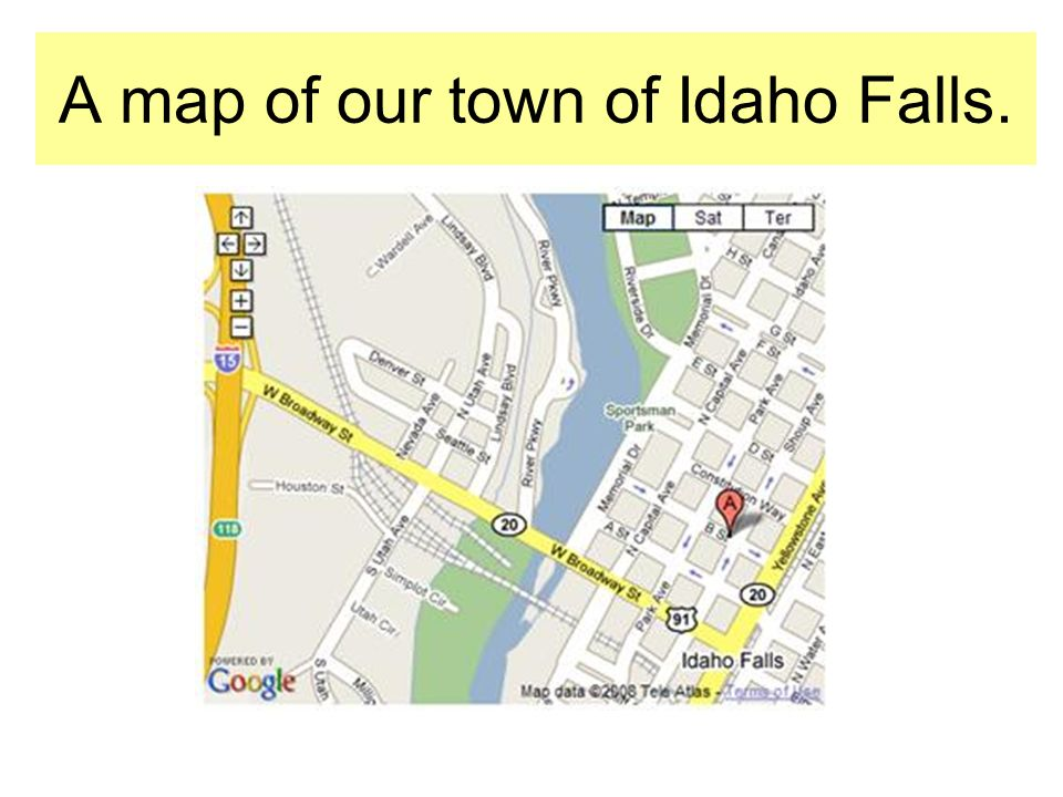 A map of our town of Idaho Falls.