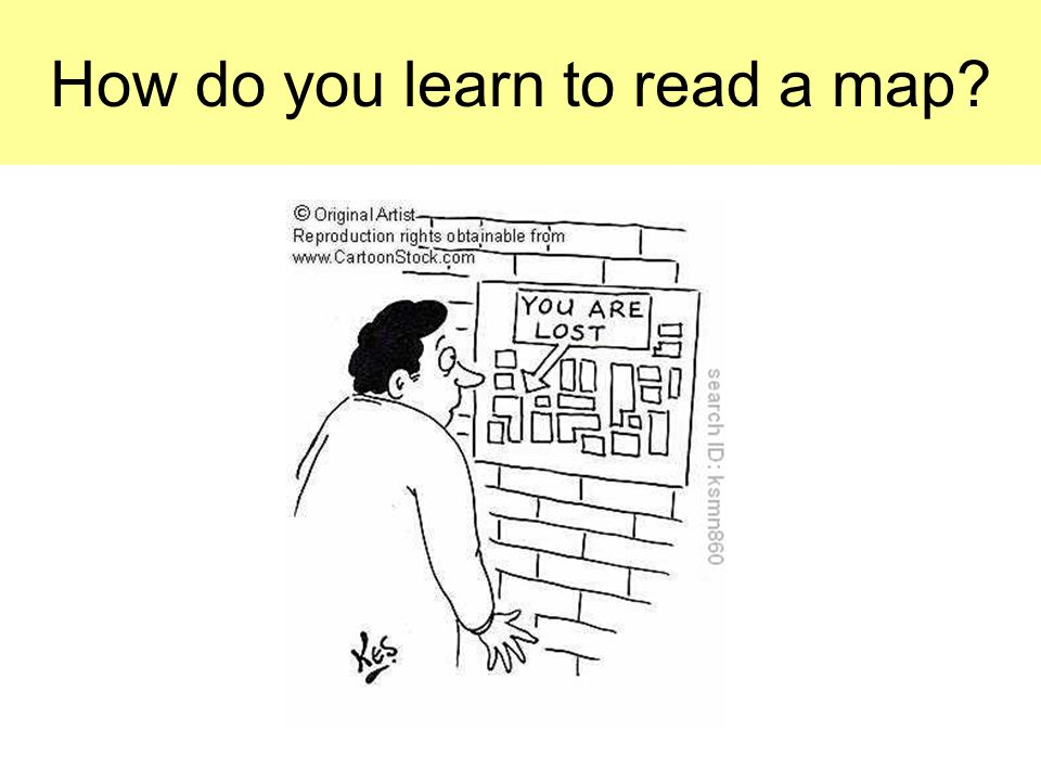 How do you learn to read a map
