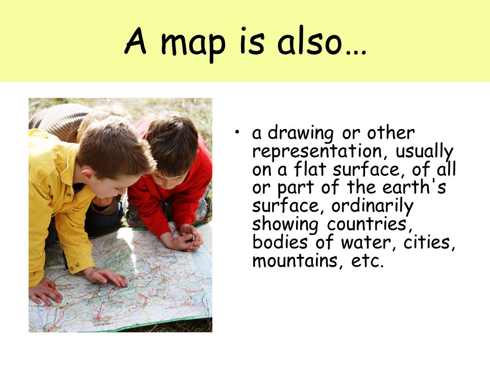 A map is also…