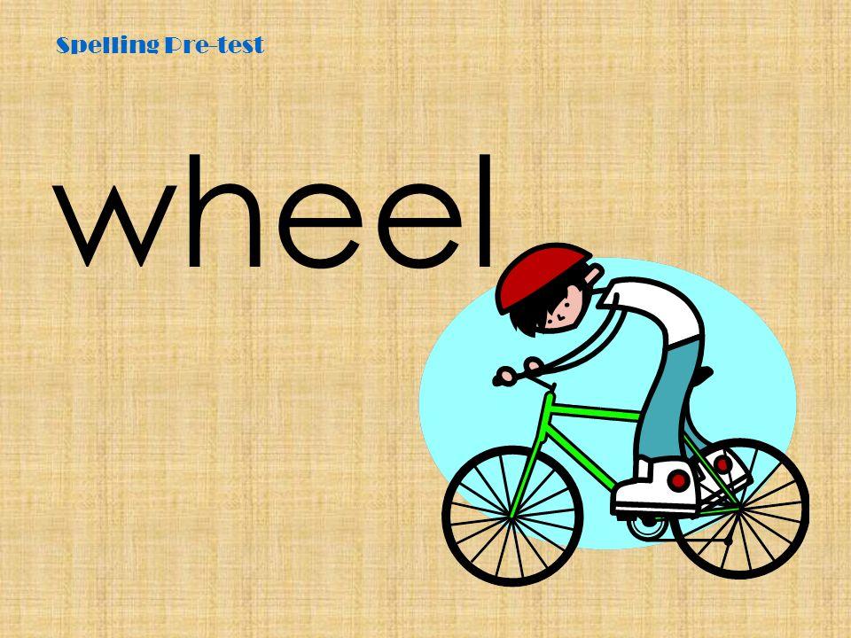 Spelling Pre-test wheel