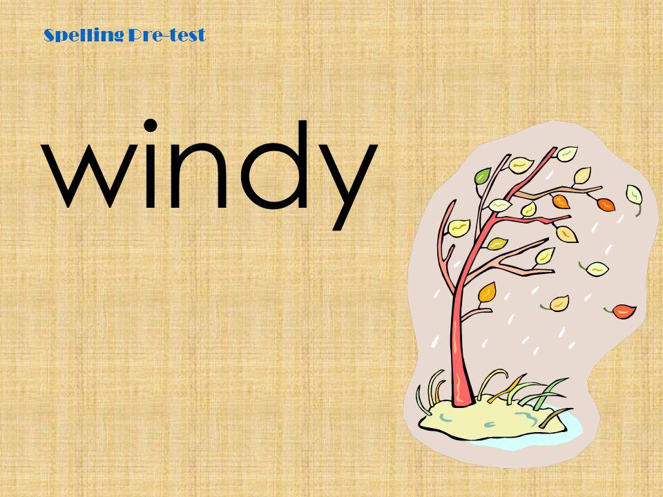 Spelling Pre-test windy
