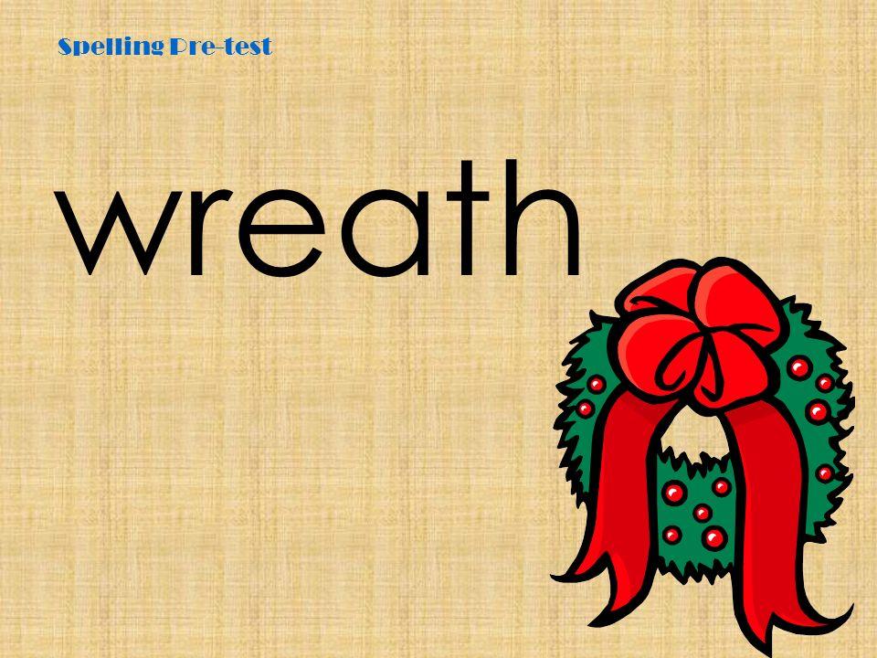 Spelling Pre-test wreath