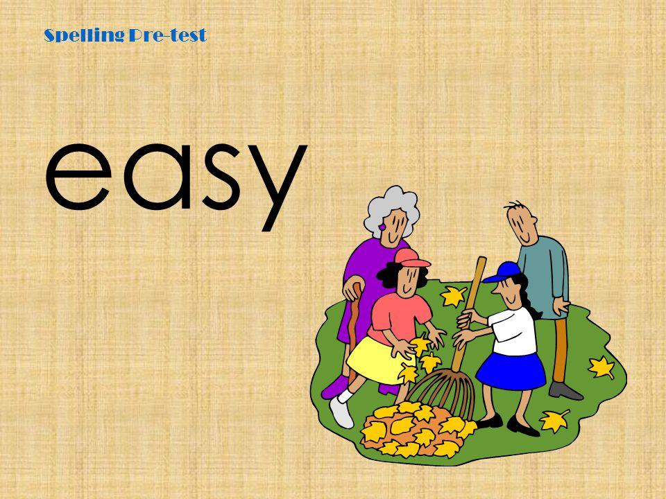 Spelling Pre-test easy