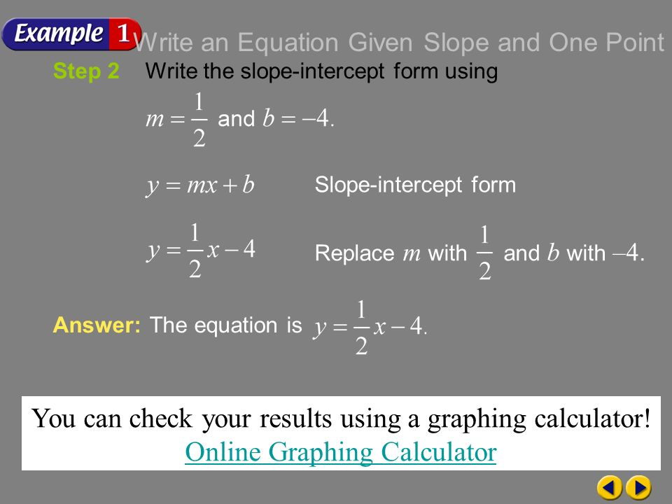 how to find the slope on graphing calculator