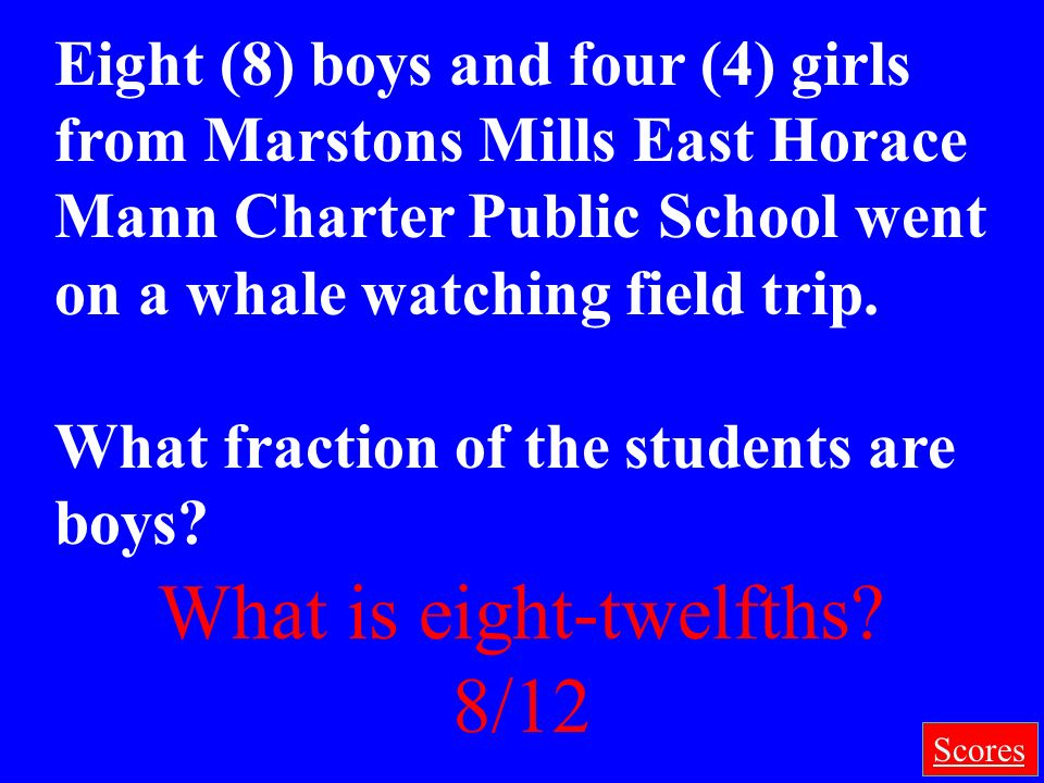 What is eight-twelfths 8/12