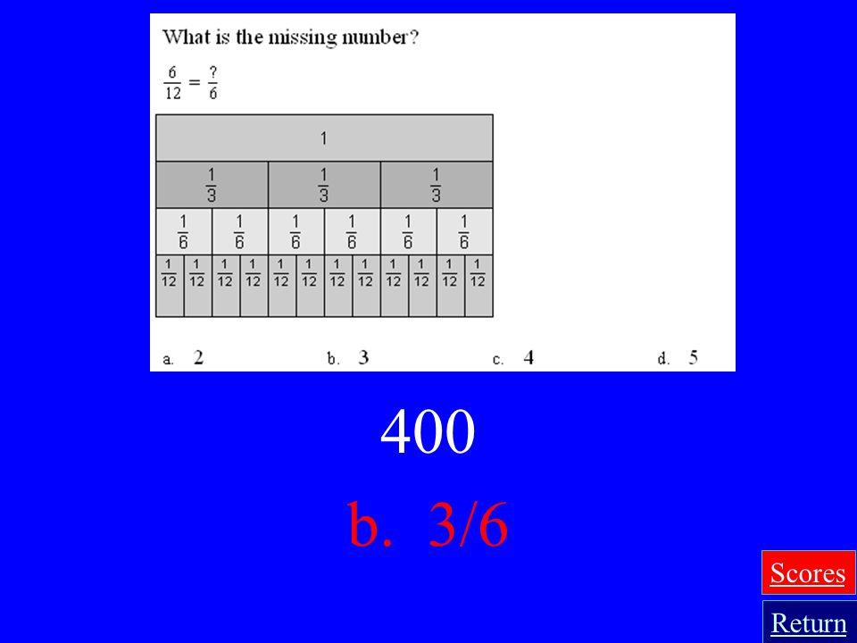 400 b. 3/6 Scores Return