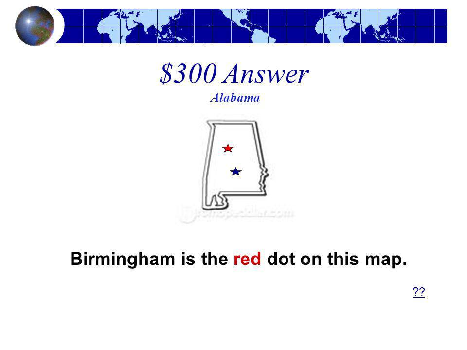 Birmingham is the red dot on this map.
