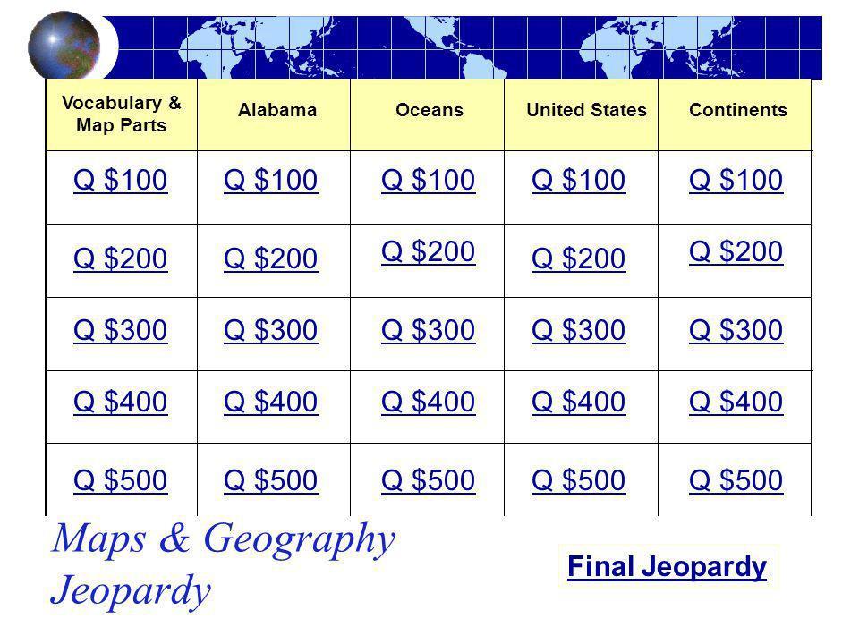 Maps & Geography Jeopardy