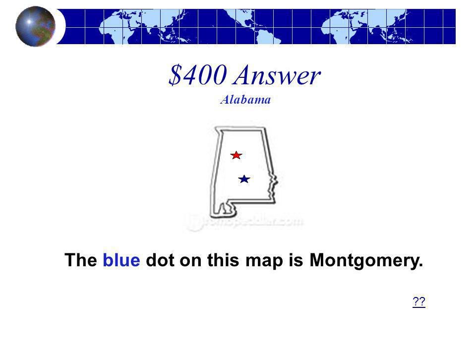 The blue dot on this map is Montgomery.
