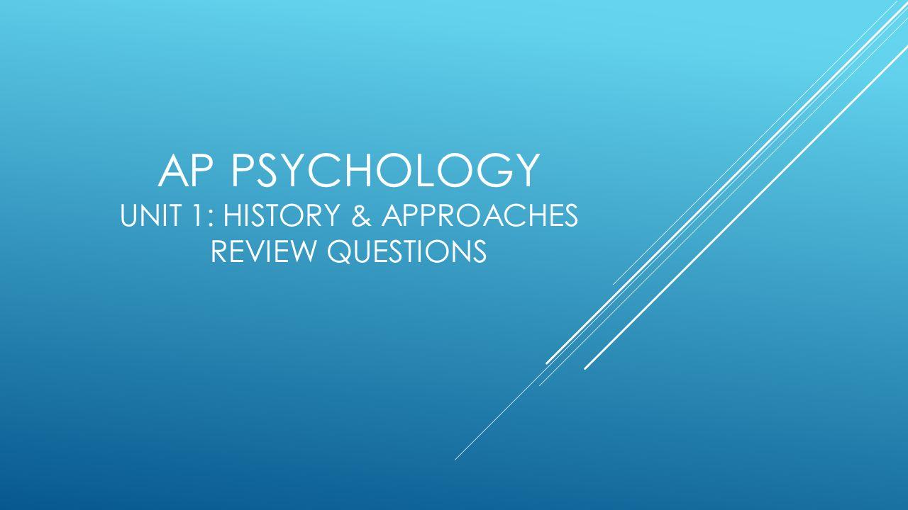 AP Psychology - Dr. Jezequel
