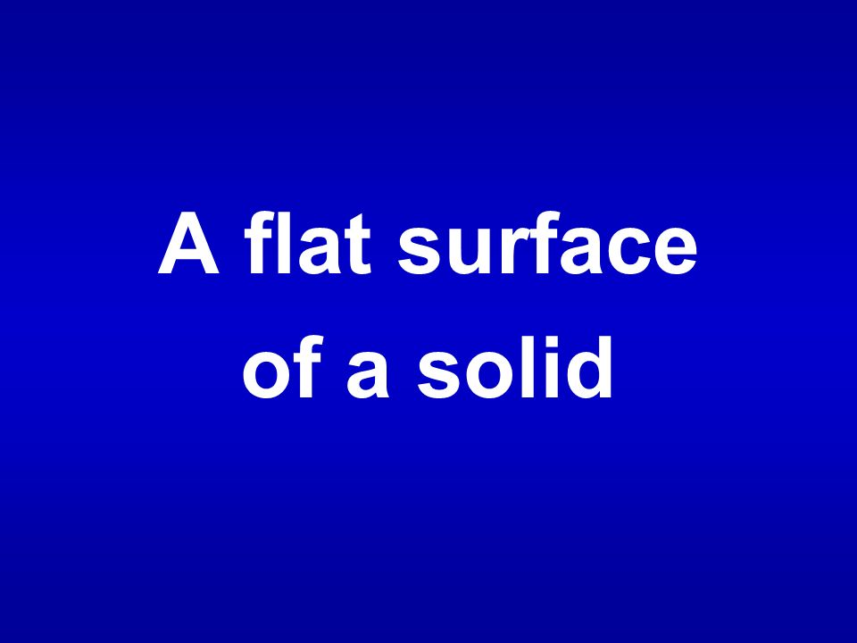 A flat surface of a solid