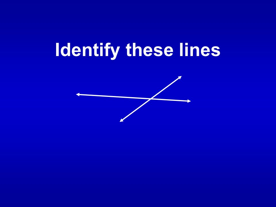 Identify these lines