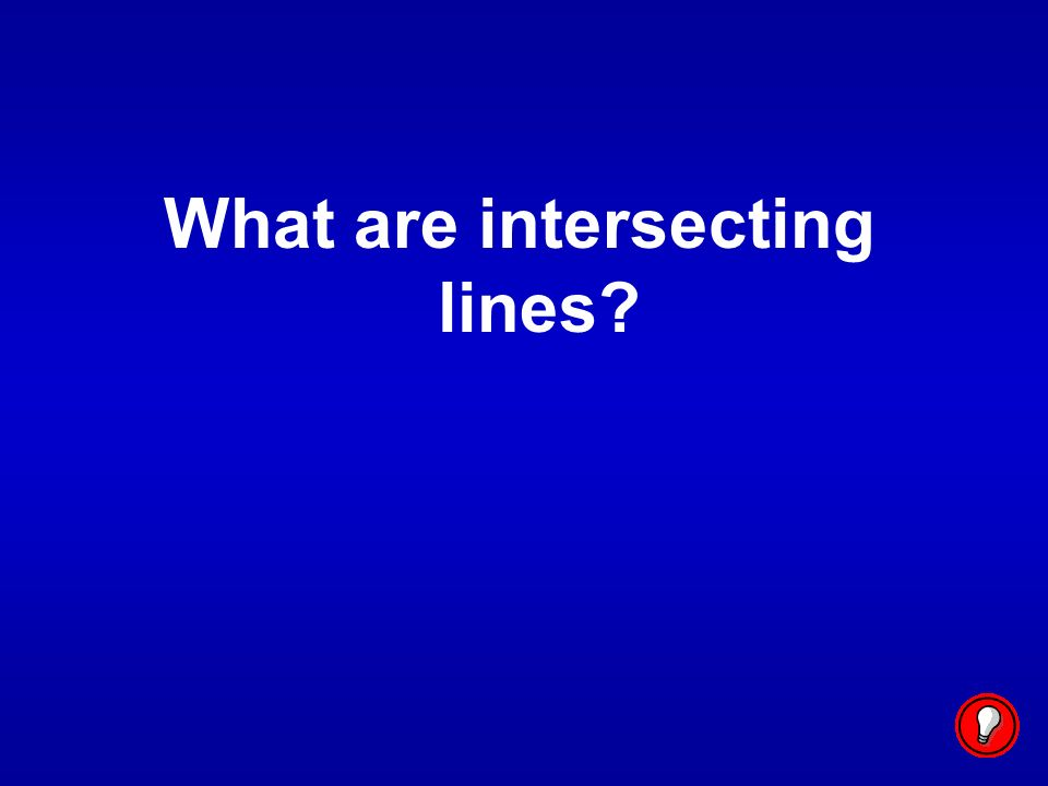 What are intersecting lines