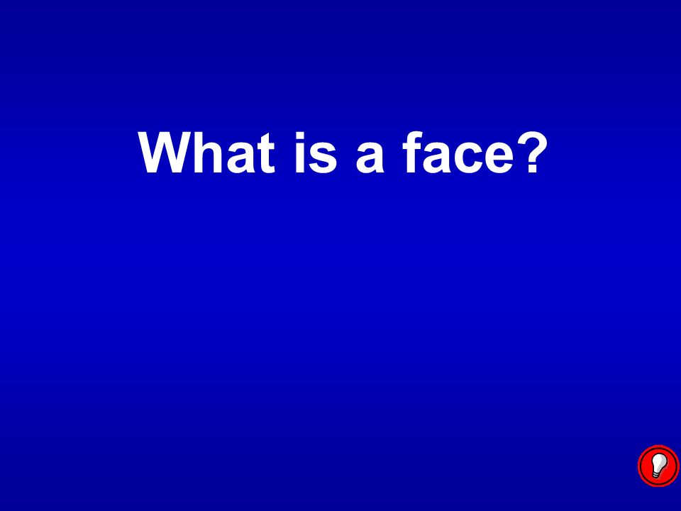 What is a face