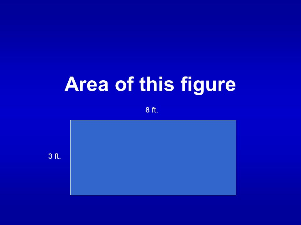 Area of this figure 8 ft. 3 ft.
