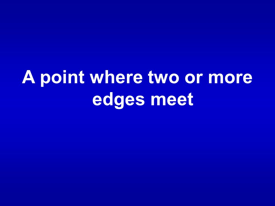 A point where two or more edges meet