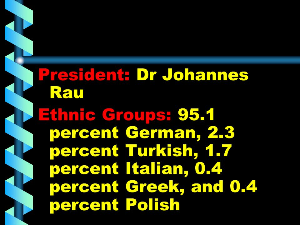 President: Dr Johannes Rau