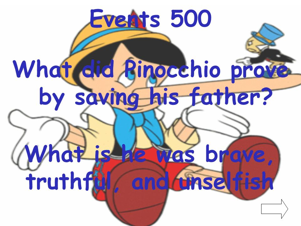 What did Pinocchio prove by saving his father