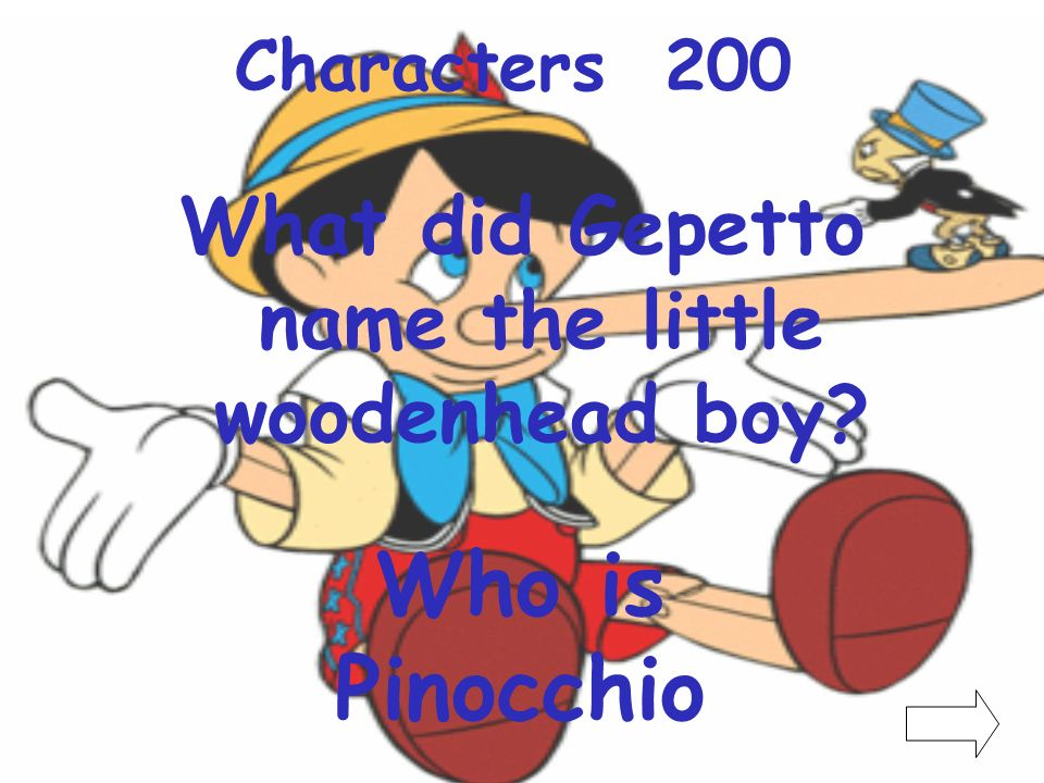 What did Gepetto name the little woodenhead boy