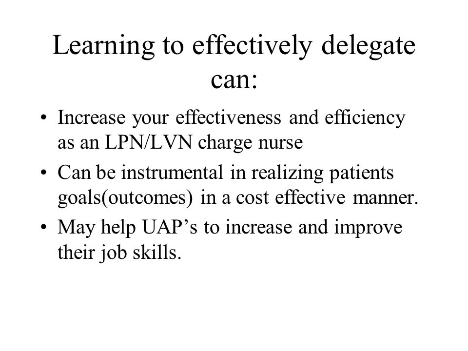Learning to effectively delegate can: