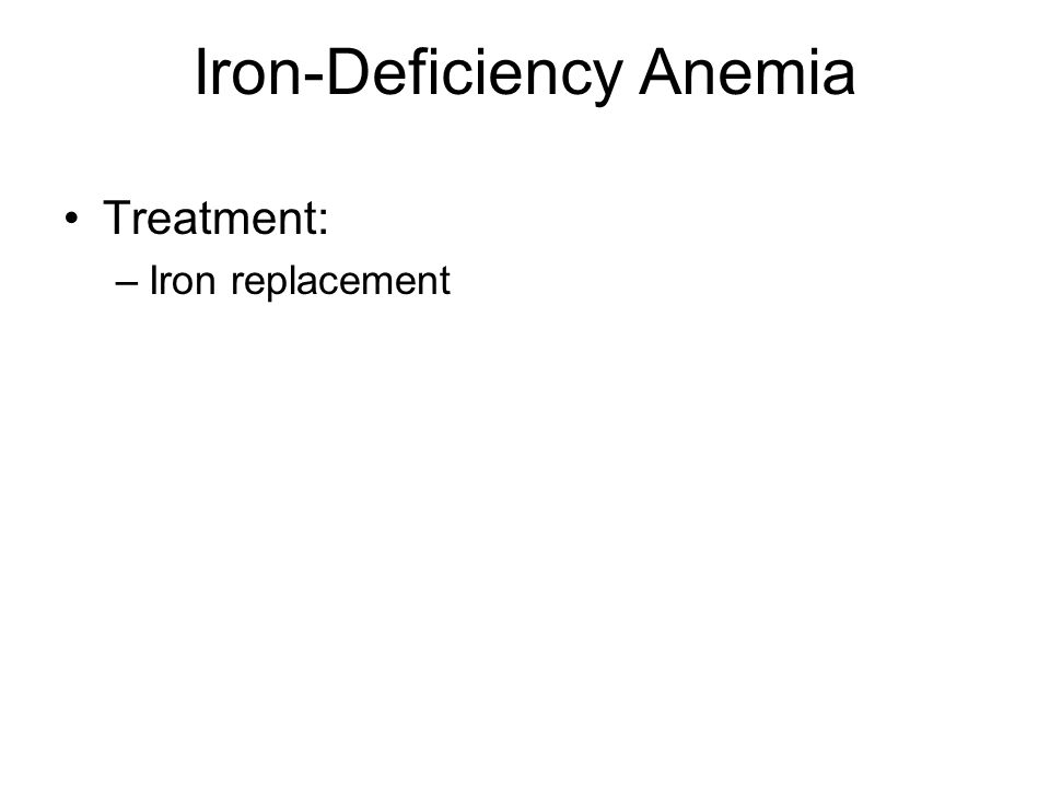 Iron-Deficiency Anemia